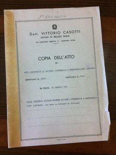 Atto Costitutivo 1967